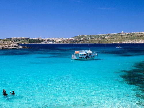 Comino is most famously known for Blue Lagoon and its crystal clear, azure water.