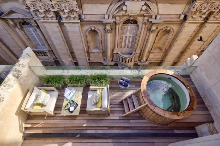 Holidaying in Valletta in style: One of the terraces with jacuzzi at Casa Ellul.