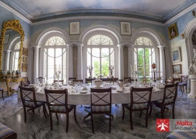 The dining room at Casa Rocca Piccola.