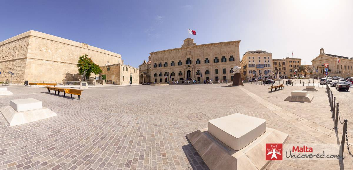 Castille place is a square in the South East of valletta