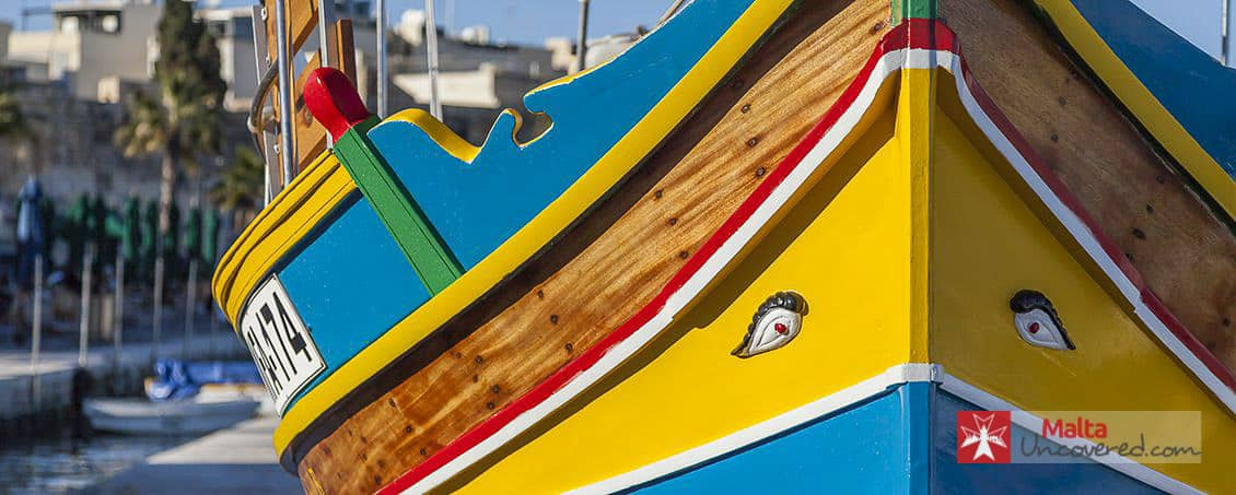 A colourful Maltese fisherman's boat.