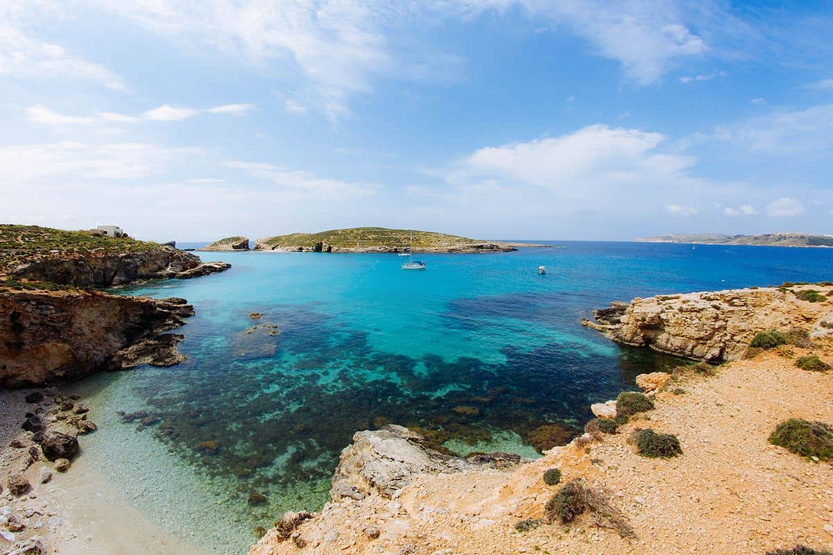 One of the many picturesque scenes in Comino.