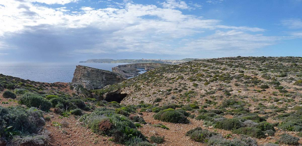 Landscape scenery at Comino