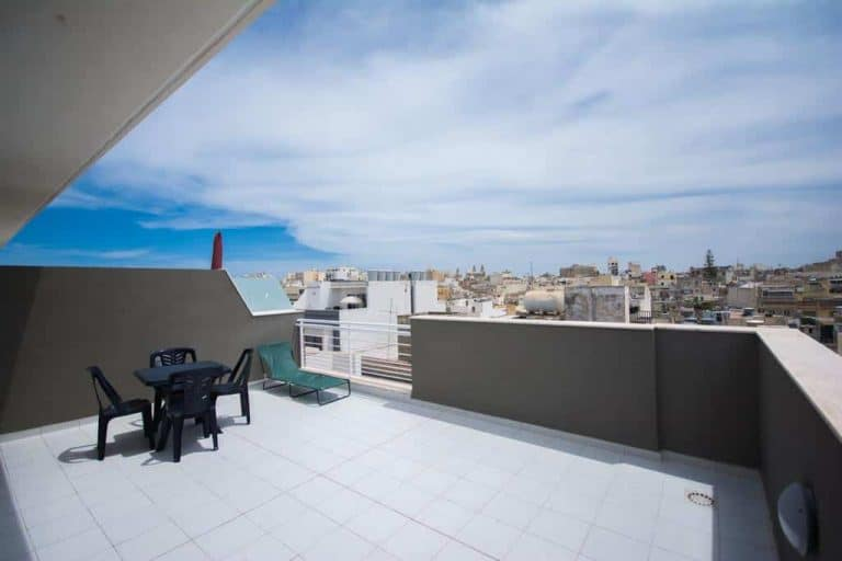 Terrace with views of Sliema at Depiro Point.