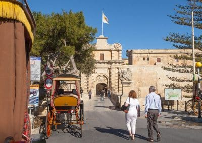 Mdina's main gate and entrance