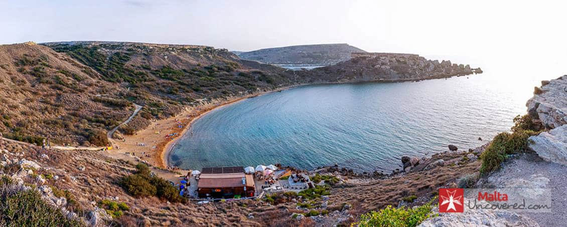 Some of Malta's most beautiful beaches are within easy reach from Valletta.