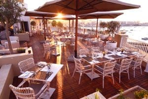 Giuseppi's Bar & Bistro offer fine dining with a lovely sea view.