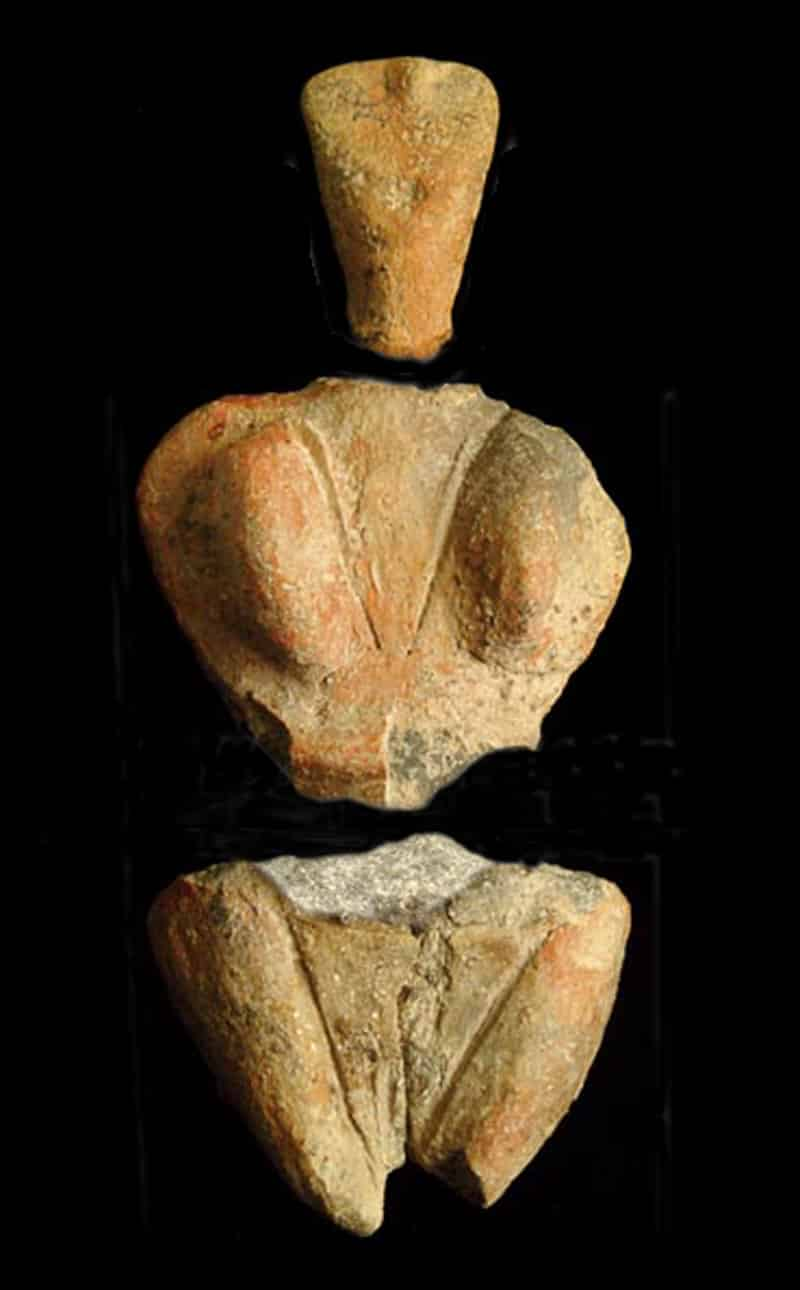 Figurine of the goddess of fertility discovered on the site of Skorba. Photo courtesy of Hamelin de Guettelet.