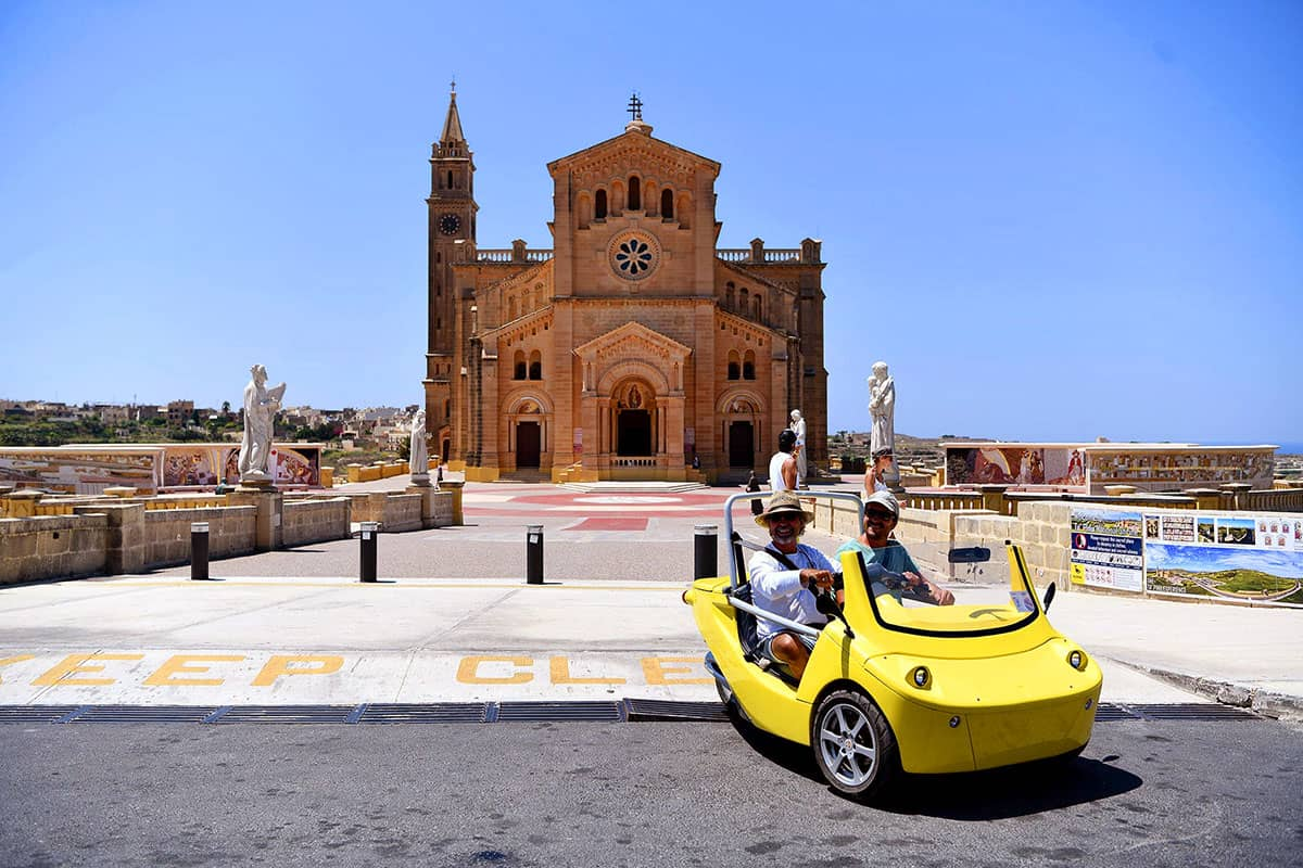 Take a self-guided tour of Gozo by GoCar.