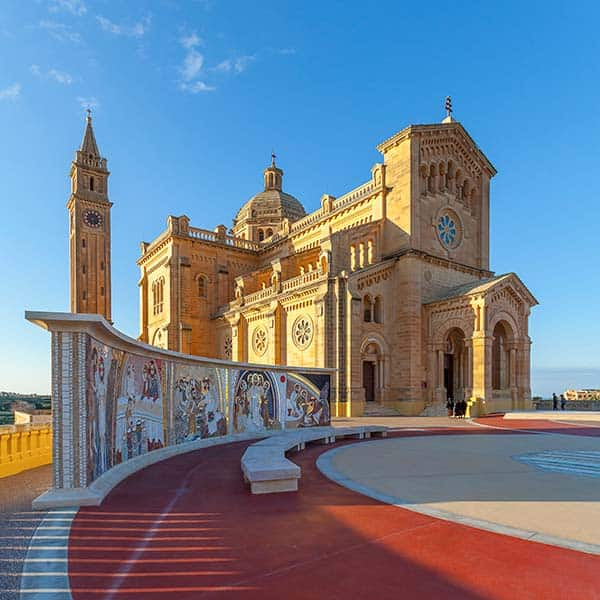This guide book offers advice on where go to, such as the Ta Pinu Basilica in Gozo.