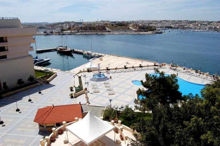 The Grand Hotel Excelsior offers one of the few luxury holiday options near Valletta.