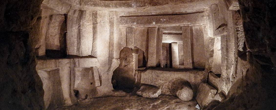 The Central Chamber of the Ħal Saflieni Hypogeum.