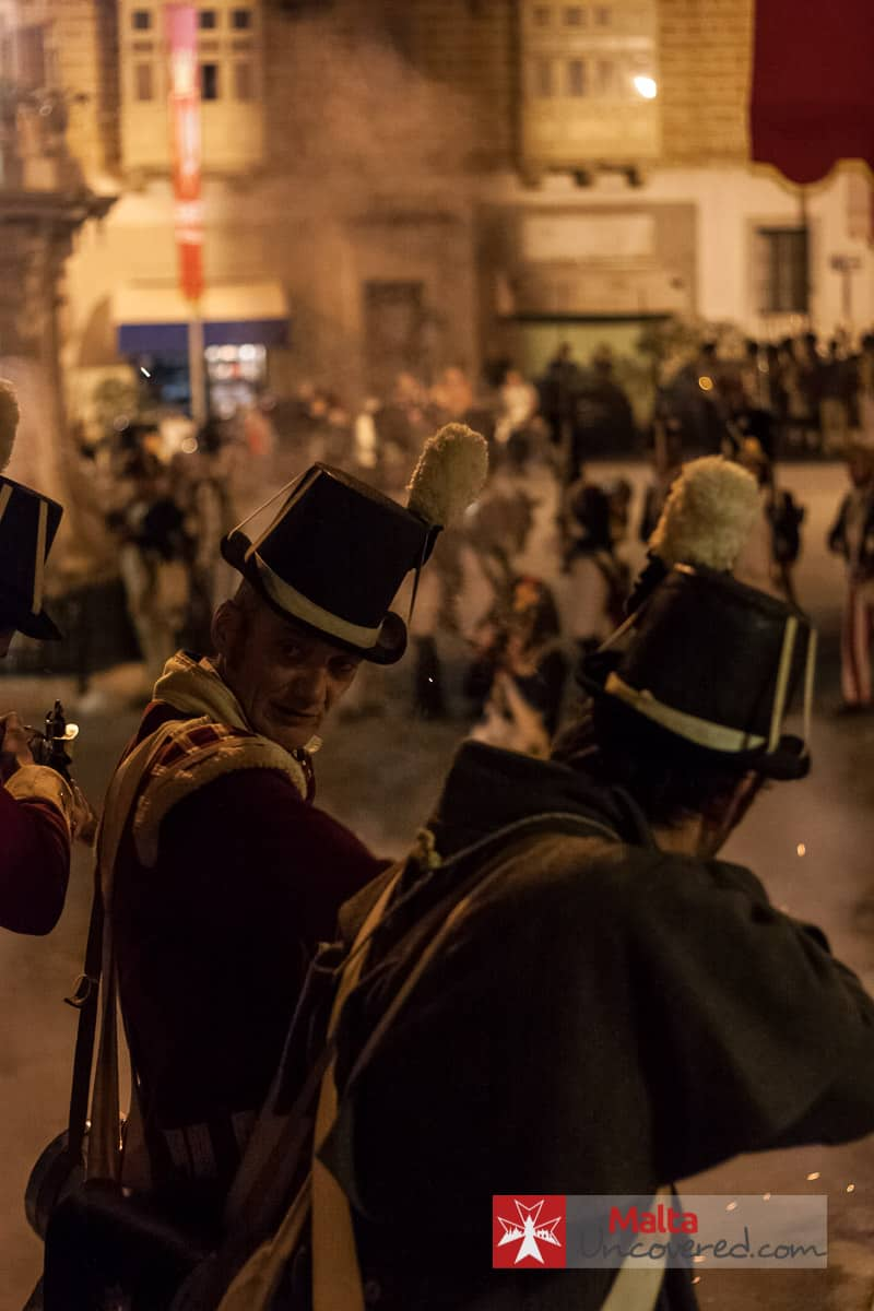 Historical re-enactments are an important part of Birgufest, in Birgu