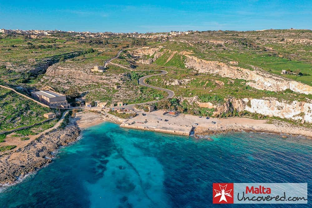 Hondoq ir-Rummien is a small beach in the South East of Gozo, close to the village of Qala.