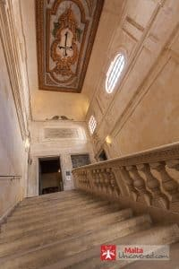 Stairway inside the main building of the Inquisitor's Palace