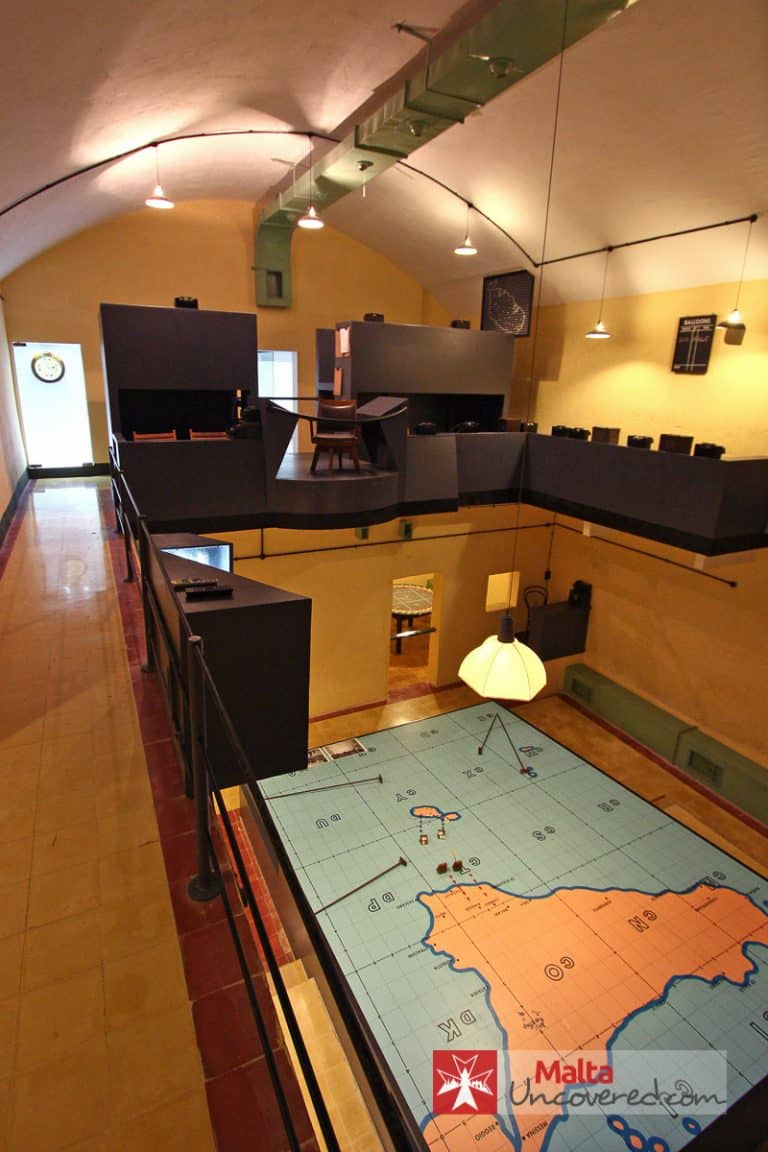 The map room deep inside the Lascaris War Rooms in Valletta.