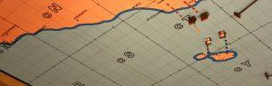 Detail of the Operations Room map at the Lascaris War Rooms.