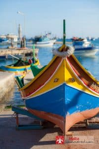 A typical Maltese luzzu, or fisherman's boat