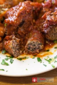 Maltese sausage as a main ingredient in a Maltese dish