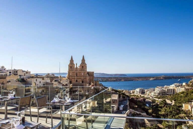 Enjoy your Malta holidays with a view at the Maritim Antonine in Mellieha.