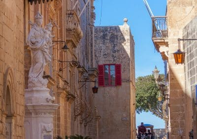 North view of Mdina's main street