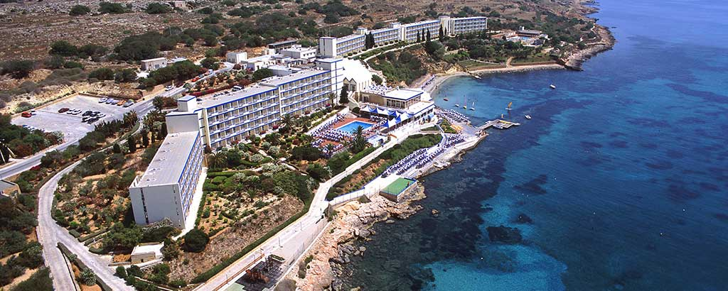 Aerial view of the Mellieħa Bay Hotel