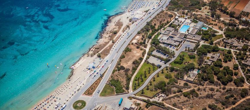 The Mellieha Holiday Centre is a bungalow park right opposite Mellieha Bay.