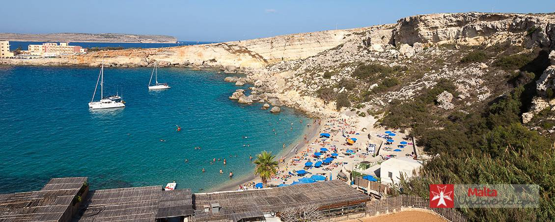 Paradise Bay is a small but lovely beach in the North of Malta.