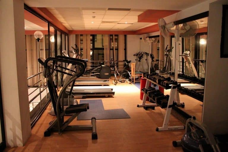 The fitness area at Pebbles Resort.