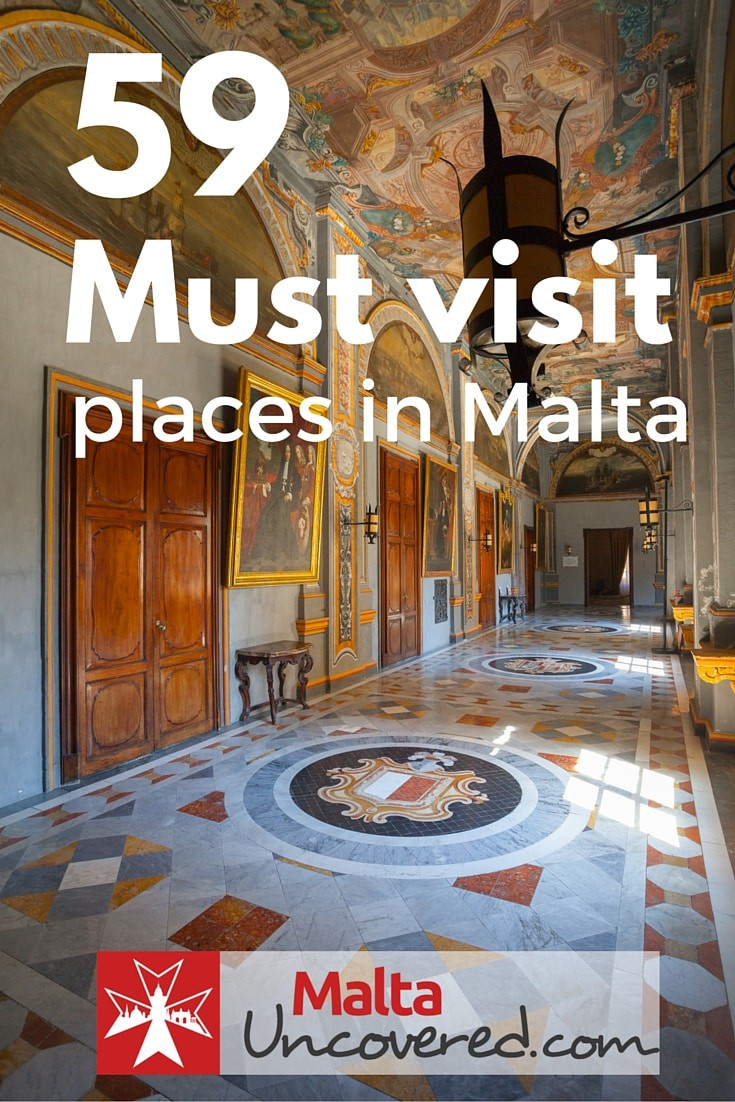 59 Must visit points of interest, places to see and attractions in Malta