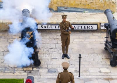 Daily firing of the gun at the Saluting Battery.