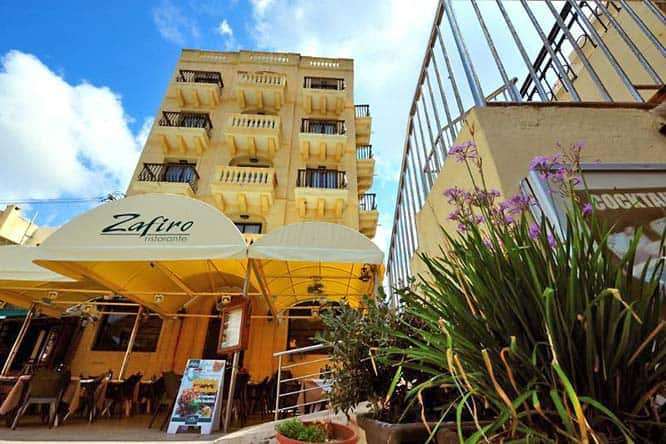 Best budget hotel in Gozo: The San Andrea Hotel.