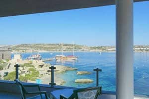 Seafront apartment holiday let in Mellieha.