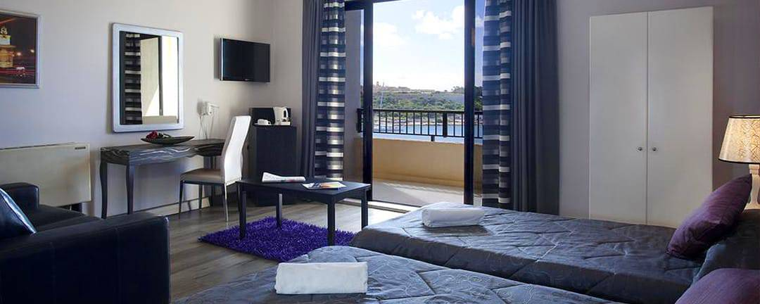 The Sliema Marina Hotel offers decent accommodation, as long as you book a sea view room.