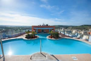 Rooftop pool at the Sunflower Qawra Hotel