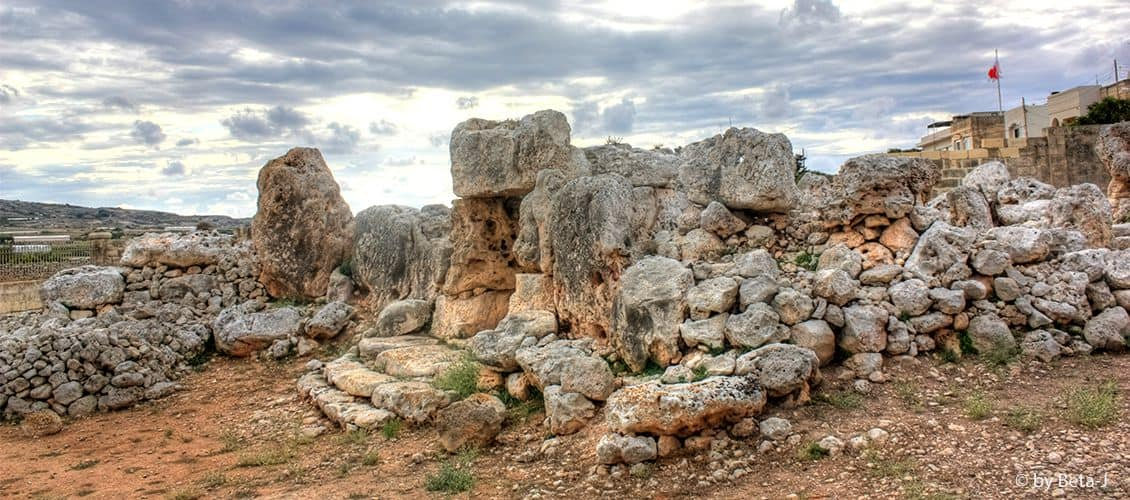 The Ta' Ħaġrat Temples on the outskirts of Mġarr.