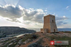 Ta' Lippija Tower overlooking Gnejna Bay