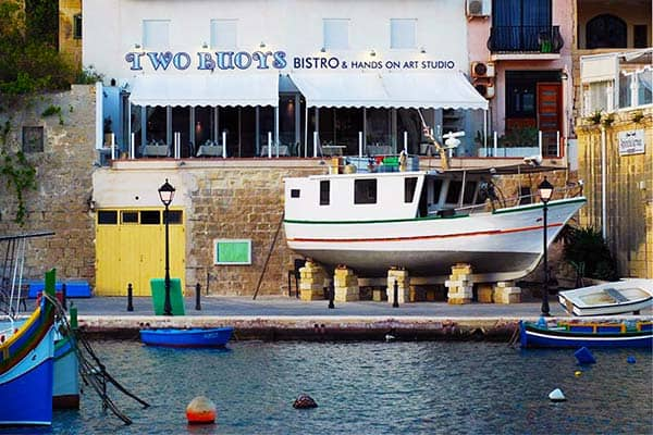 Two Buoys Bistro in St. Julian's.