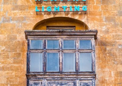 One of the many quirky balconies in Valletta.