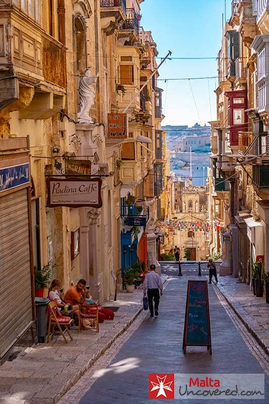 One of many scenes you'll see in Valletta: one of the best places to stay in Malta.