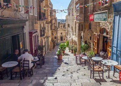 Quaint little side street of Triq San Pawl, Valletta